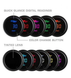 Glowshift 10 Color Digital Vacuum Gauge