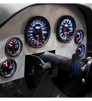 Glowshift Tinted 7 Color Custom Dashboard Gauge Set