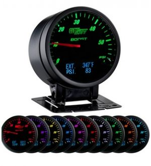 Glowshift 3in1 Black Face Boost w/ Digital EGT & Pressure Gauge