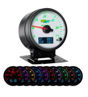 Glowshift 3in1 White Face Boost w/ Digital EGT & Temp Gauge