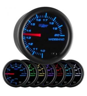 Glowshift Black 7 Color Needle Wideband Air/Fuel Ratio Gauge