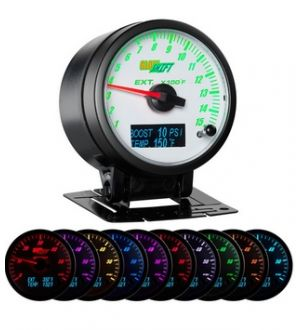 Glowshift 3in1 White Face EGT w/ Digital Boost & Temp Gauge