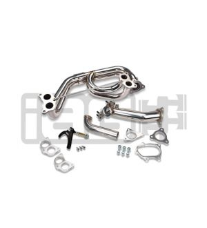 IAG External Wastegate 44mm V-Band Uppipe Kit with Equal Length Header For Subaru (TiAL Wastegate Not Included)