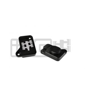 IAG MAF Sensor Block Off Plate For 2008-14 Subaru WRX / 2008-17 STI, 05-09 LGT (Black Finish)