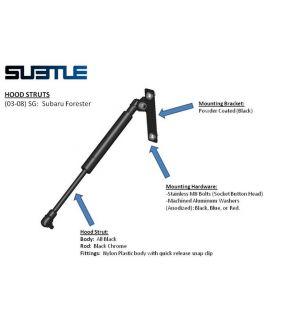 Subtle Solutions (03-08) Forester - Hood Struts