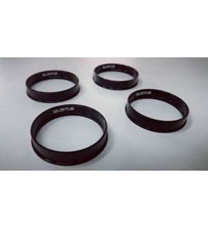 Subtle Solutions Adapter Rings (Aluminum) - Black (4pc Set)