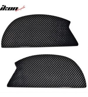 Ikon Motorsports V3 Universal GT Trunk Spoiler Wing Side Plate Add On- Carbon Fiber CF