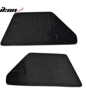 Ikon Motorsports V2 Universal GT Trunk Spoiler Wing Side Plate Add On- Carbon Fiber CF