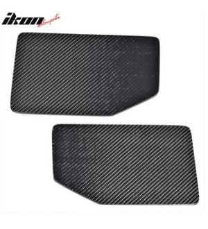 Ikon Motorsports V1 Universal GT Trunk Spoiler Wing Side Plate Add On- Carbon Fiber CF