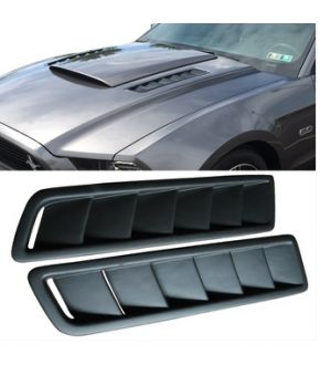 Ikon Motorsports Universal Fitment Air Flow Hood Vent Scoop Bonnet Cover 2PC 20x5 Inch - PP