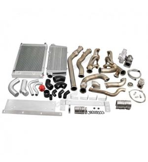 CX Racing Turbo Kit Intercooler Piping Radiator For 68-72 Chevrolet Chevelle SBC Small Block