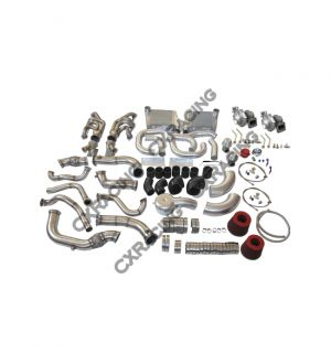CX Racing win Turbo Intercooler Kit For 63-65 Chevrolet Chevelle Nova SBC V8