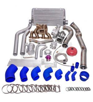 CX Racing Turbo Manifold Downpipe Intercooler Kit For SR20DET 240Z/260Z/280Z Stock Intake