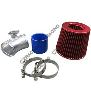 CX Racing Air Intake Flange Pipe For 92-98 BMW E36 325i 328i + Filter
