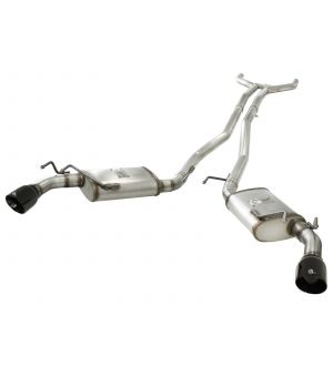 aFe MACHForce XP Exhaust 2.5in Stainless Steel CB/10-13 Chevy Camaro V6-3.6L (td) (gloss blk tip)