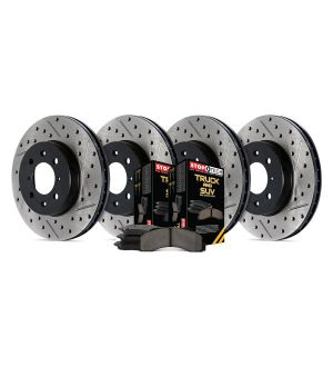 StopTech Truck Axle Pack, Slotted & Drilled, 4 Wheel 2005-2007 Infiniti, Nissan  - 968.42024