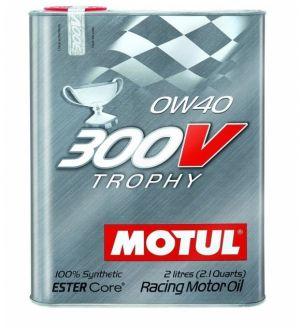 MOTUL Synthetic Ester Racing Oils 300V TROPHY 0W40 - 2L (2.1qt)