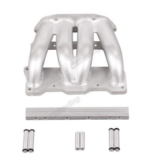 CX Racing Lower Intake Manifold For Cosmo 13B RE Rotary 4 Ports Fuel Rail