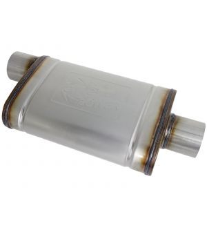 aFe MACHForce XP SS Muffler 3in Center Inlet / 3in Outlet 9in L x 4in W x 14in Body