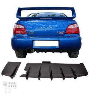Ikon Motorsports 2002-2003 Subaru Impreza WRX/Sti ABS Rear Diffuser Splitter