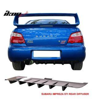 Ikon Motorsports FITS 02-03 SUBARU IMPREZA WRX / STI REAR DIFFUSER SPLITTER - ABS