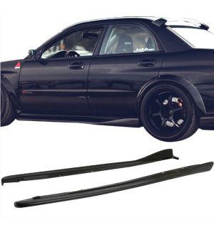 Ikon Motorsports 02-07 Subaru Impreza WRX STI CS Style Side Skirts 2PC Polyurethane PU