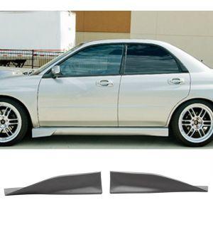 Ikon Motorsports 2002-2007 Subaru Impreza Side Skirt Polyurethane 2 Pcs Unpainted