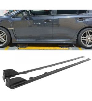 Ikon Motorsports 2015-2016 Subaru Impreza 4 Dr 4Door WRX STI Side Skirts Rocker Panels 2 Piece ABS