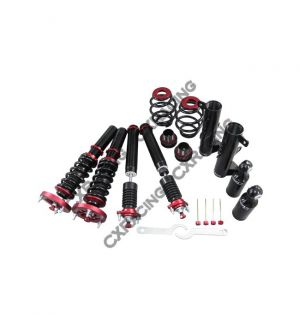 CX Racing Damper CoilOver Suspension Kit with Pillow Ball /Camber Plate Mounts for 93-98 BMW 3 Series E36
