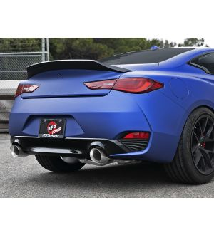 aFe POWER Takeda 2.5in 304 SS Axle-Back Exhaust w/ Polished Tips 17-19 Infiniti Q60 V6-3.0L (tt)