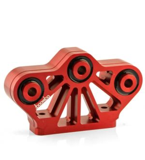 Boomba Racing 2011 + Mustang GT Transmission Mount - 60D Street Spec - Red Anodize