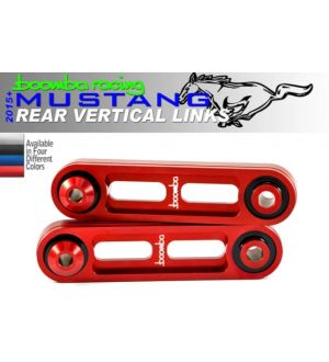 Boomba Racing Ford Mustang GT Rear Vertical Links - Red Anodize