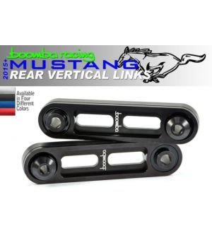 Boomba Racing Ford Mustang Eco/V6 Rear Vertical Links - Red Anodize