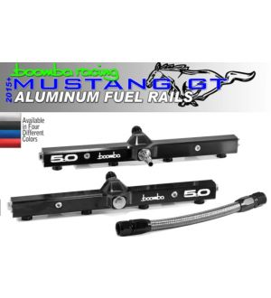 Boomba Racing Mustang GT Fuel Rail - Blue Anodize