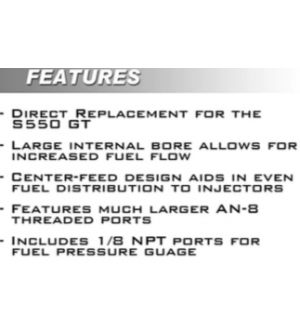 Boomba Racing Mustang GT Fuel Rail - Natural Aluminum