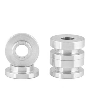 Boomba Racing Ford Focus ST Transmission Bracket Bushings - Natural Aluminum