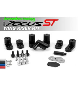 Boomba Racing Ford Focus ST Wing Riser Kit - Black Anodize