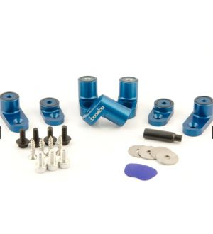 Boomba Racing Ford Focus ST Wing Riser Kit - Blue Anodize