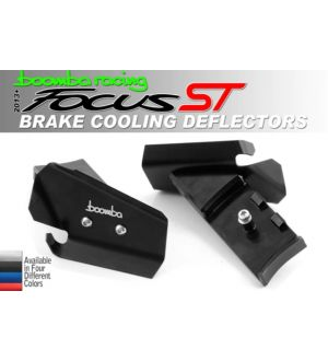 Boomba Racing Ford Focus ST Brake Cooling Deflectors - Black Anodize