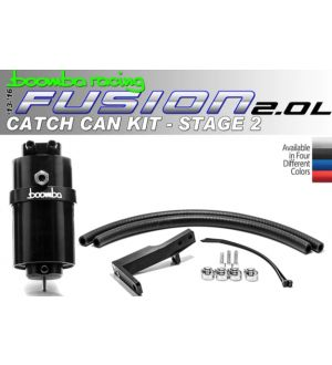 Boomba Racing Ford Fusion 2.0 Ecoboost Stage 2 Catch Can - Black Anodize