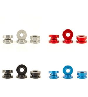 Boomba Racing Ford Fiesta ST Transmission Bracket Bushings - Red Anodize