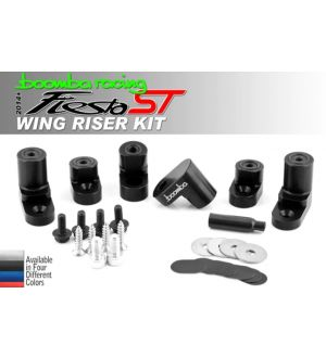 Boomba Racing Ford Fiesta ST Wing Riser Kit - Blue Anodize
