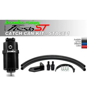 Boomba Racing Ford Fiesta ST Stage 1 Oil Catch Can Kit - Black Anodize