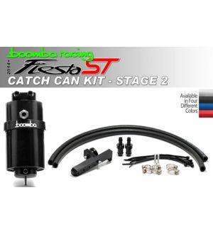 Boomba Racing Ford Fiesta ST Stage 2 Oil Catch Can Kit - Black Anodize