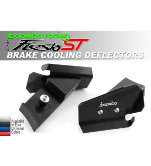 Boomba Racing Ford Fiesta ST Brake Cooling Deflectors - Black Anodize