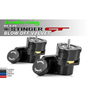 Boomba Racing Kia Stinger GT Blow Off Valves - Black Anodize