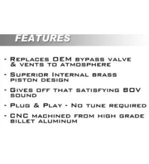 Boomba Racing Kia Stinger 2.0T Blow Off Valve - Natural Aluminum