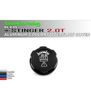 Boomba Racing Kia Stinger 2.0T Coolant Overflow Cover Cap-Red Anodize