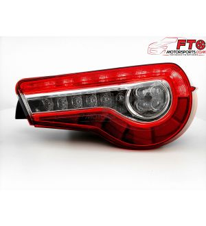 VLAND Clear Lens with Chrome/Red Sequential Projector Style Taillights - 13+ FRS/BRZ/86