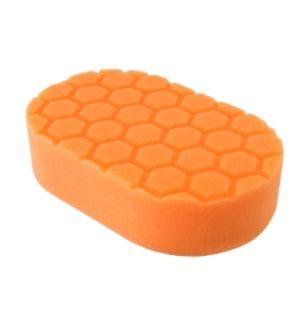 Chemical Guys Hex-Logic Medium Cutting Hand Applicator Pad - Orange - 3in x 6in x 1in (P24)